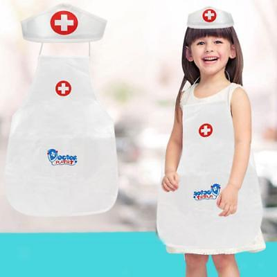 Kid Baby Pretend Doctor Role Play Accessory Uniform Clothes Hat Learning Toy
