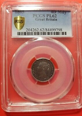 1864 Great Britain Young Head Maundy 4D PCGS PL 62 Toned Obv