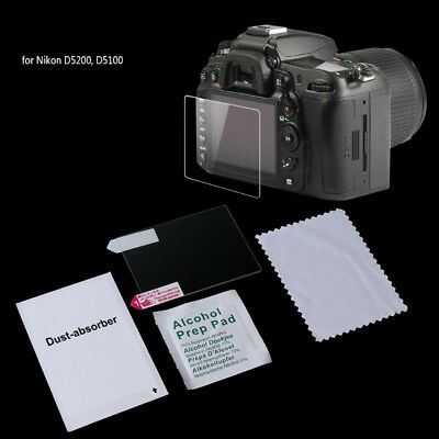 Tempered Glass Camera LCD Screen Guard Protector Cover Film For Nikon D5200 New