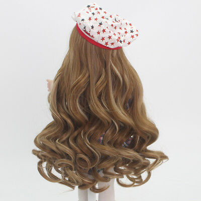 "Brown Long Curly Hair Wig for 18"" American Girl Dolls DIY Making Repair"