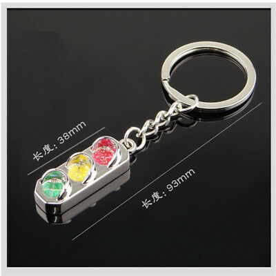 New Classic 3D Mini Traffic Light Car Decoration Key Ring Key Fob Keychain Gifts