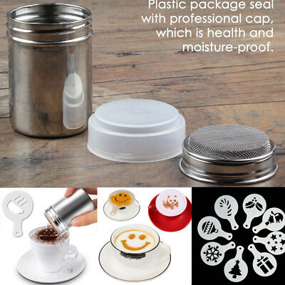 Stainless Steel Chocolate Shaker Stencils Coffee Sifter Sprinkler Kitchen Tool