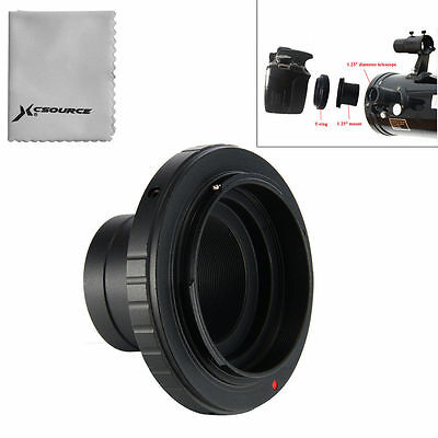 "T T2 Ring for Nikon DSLR Camera Lens Adapter + 1.25"" Telescope Mount Metal DC616"