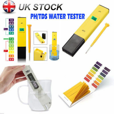 Digital TDS Meter PH Tester Paper Aquarium Pool Hydroponic Water Test Pen Stick