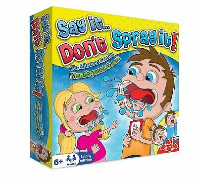 Say It Don't Spray It Party Game - The Hilarious Mouthpiece Board Game