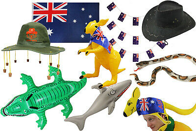 Australia Day Party Fancy Dress Choose Accessory Hat Flag Bunting Inflatable Lot