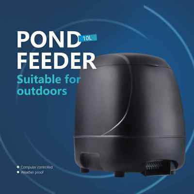 Automatic Fish Feeder Timer High Capacity Pond Feeding Dispenser for Outdoor