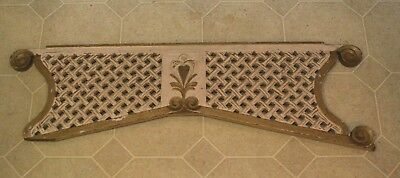 "Antique Victorian Architectural Remnant Painted Wood Latice Screen ~38""x11"""