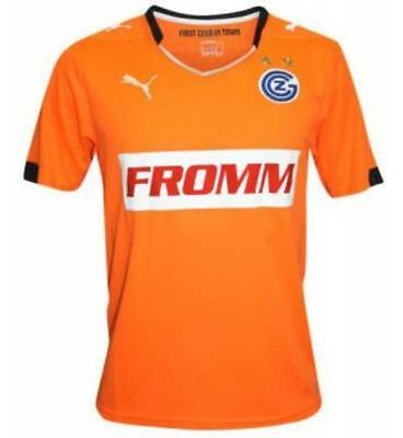 Puma Mens Football Grasshopper Club Zürich FC Away Jersey Shirt 2014 2015 Orange