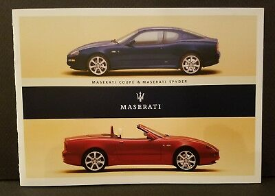 Maserati Official Spyder And Coupe Sales Brochure 2003 Usa Edition - Mint!