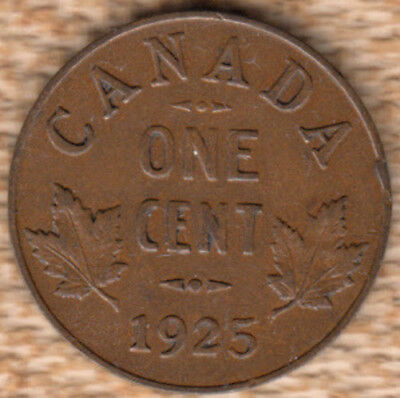 1925 Canadian small cent *F*