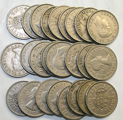 25 Pack Of Old English / Scottish Shilling Bulk Coins.