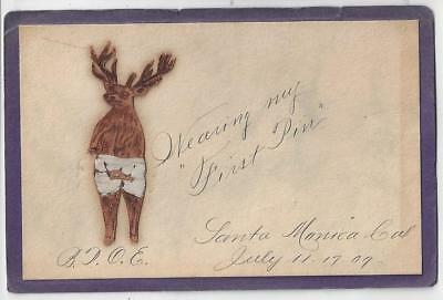 1909 Santa Monica Benevolent & Protective Order Of Elks B.P.O.E. Card