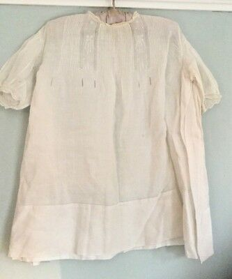 Vintage baby / doll white cotton embroidered nightdress a/f