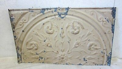 "Antique 24 "" x 14  Salvaged  Detailed Victorian Metal Tin Ceiling Tile"