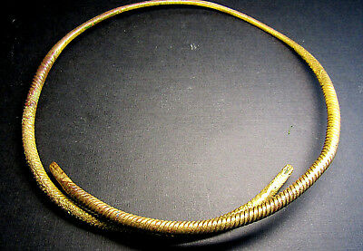Ancient Viking Neck Torc Snake!. Cleared.