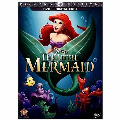 The Little Mermaid Disney (DVD, 2013,Diamond Edition)  Fast Ship..no digital cop
