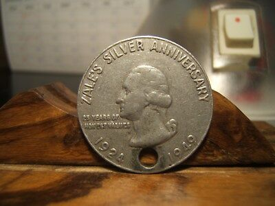 1949 ZALE'S SILVER ANNIVERSARY Good Luck Medal  1924 - 1949  rare