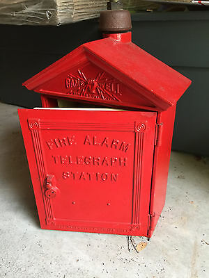 Vintage GAMEWELL fire alarm box  Heavy Cast Iron Telegraph
