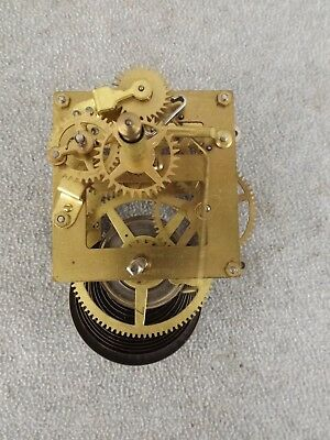 Old Antique Regulator Schoolhouse Calendar Modern Movement Clock Parts