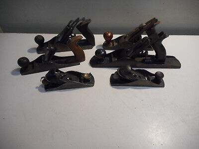 L3042- Lot of Vintage Wood Planes - Stanley, Etc. WOODWORKING TOOLS