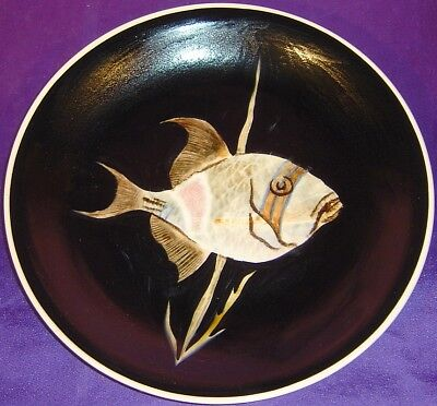 Rare Old Quimper Guy Trevoux Unique Fish Sea Life Plate