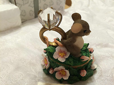 """Charming Tails """"LOVE EXPRESSIONS"""" Dean Griff LIDDED BOX DIAMOND RING"""