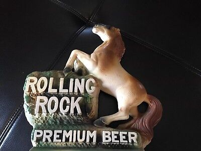 70's Rolling Rock Premium Beer chalk statue for bar - Latrobe Brewing