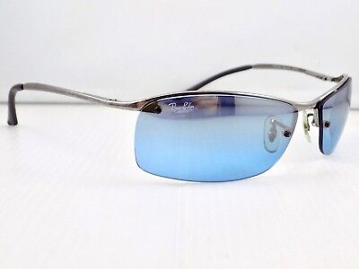 Ray Ban Semi Rimless Top Bar Gradient Wrap RB3183 Sunglasses & Case