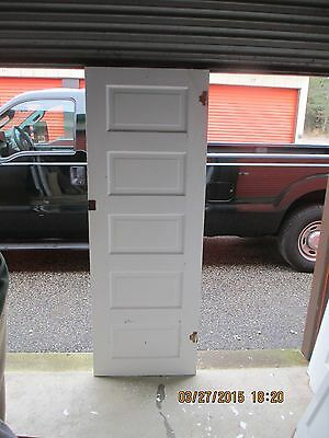 Antique Vintage 5 Panel Interior Door  Approx 24 X 72  Painted Both Sides