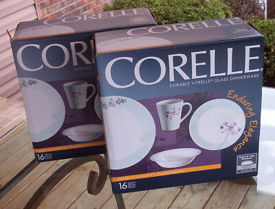 New 2 Boxes 32 Pc Corelle Summer Meadow Dishes-2010-Plates-Mugs-Bowls-Impression