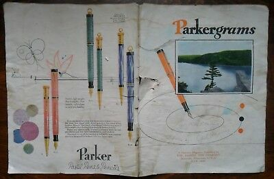 Parkergrams Fountain Pen and Pencil Monthly Magazine July 1929 4 Pages Parker