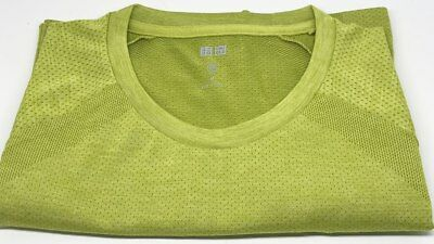 c794c30d3d95ca UNIQLO Men s Dry-EX Short Sleeve Fitness Athletic Crewneck T-Shirt M GREEN