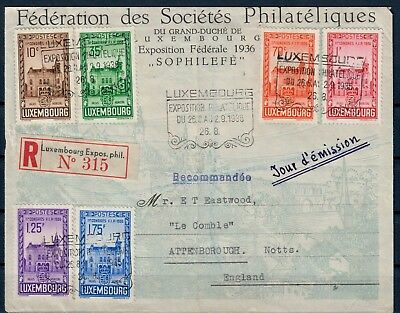 (V0145) Luxembourg Exposition cover 1936, see scan CV High