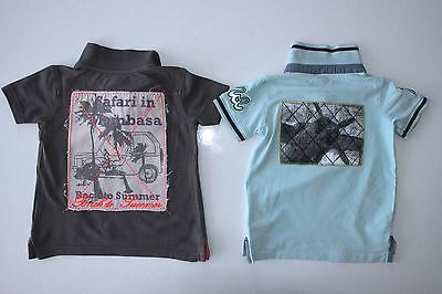 ★ 2-tlg. Set Poloshirts • name it + Vertbaudet • Gr.92 ★ cooler Rücken-Print TOP