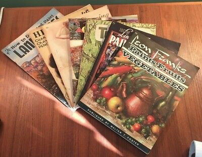 Lot Of 7 Vintage How To Draw/paint Walter T. Foster Art Instruction Books