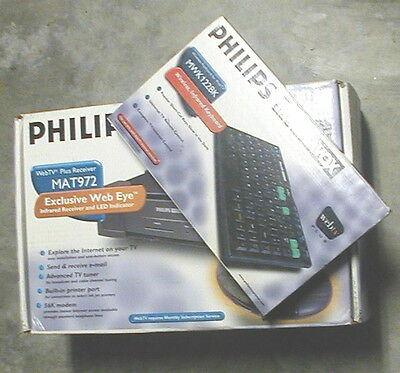 Web Tv Plus Receiver Mat972 And Infrared Keyboard Philips Magnavox *nib*