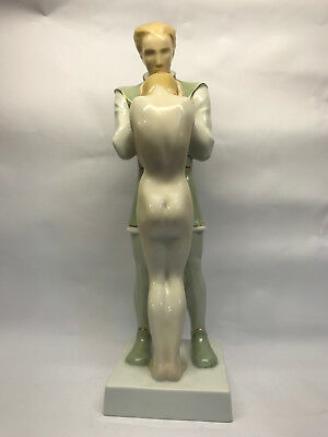 """SCHWARTZKOPFF. Rosenthal porcelain group of lovers, date 1936, 14"""" High"""