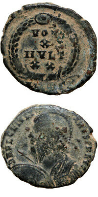 Roman Coin Ae 2 Julian Ii Augustus Shield Spear 360-363 Ad Vot X Mvlt X X In
