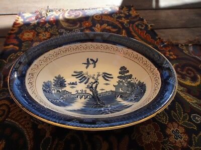 Antique high quality Blue Willow Ironstone bowl Made in Occupied Japan