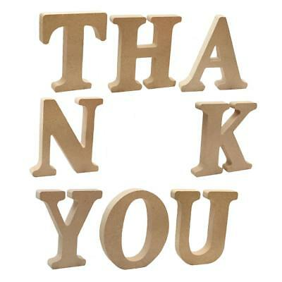 8Pcs Wooden THANKYOU Letter Plaques Alphabets Wall Hanging Crafts Home Decor