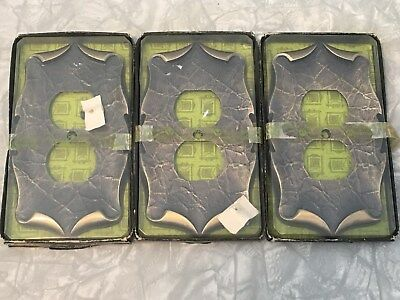 Lot of 3 NOS Amerock Carriage House Outlet Receptacle Covers, in packages C-9082