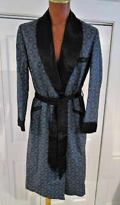 VINTAGE 40's 50's ROYTEX MENS ROBE, SMOKING JACKET, DRESSING GOWN, VERY HANDSOME