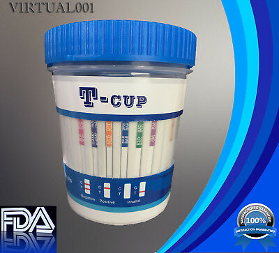 (5) 14 Panel Instant Drug Test Cups with Adulteration Work School Home Sports