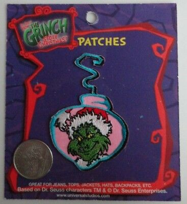 The Grinch Who Stole Christmas Ornament Shaped Iron On Patch - Vintage - NEW
