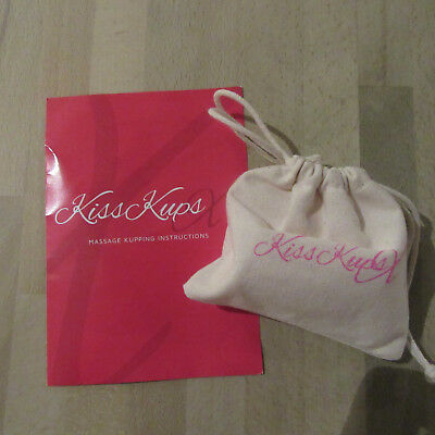 KissKups X - Silicone Facial Massage Cups - Pink x 2 with full Instructions .