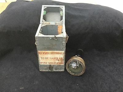 Vintage Ww2 Raf Hand Held Compass Boxed