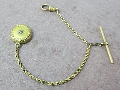 """Vintage Victorian Gold Filled Small Child's Pocket Watch Chain 5.6 G 5.5"""""""
