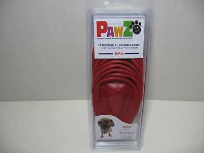 PAWZ Sz Small Red Puppy Rubber Boots Waterproof Reusable Disposable 12 Pack NEW