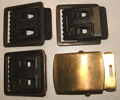 Vintage US RAU Belt Buckles Brass and Black Finish Mixed Lot of 4